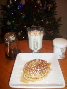 White chocolate chip pancakes!