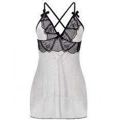Full Range Of Specifications And Sizes Sz L Amoureuse Babydoll Nightie Black-lace Empire-bust Bow Ivory Pleated Skirt Famous For High Quality Raw Materials And Great Variety Of Designs And Colors