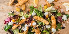 Haloumi Fries Salad