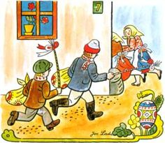 Josef Lada - Velikonoce Easter in Czech Slovak Recipes, Easter Activities For Kids, Quentin Blake, Jesus Resurrection, My Heritage, Four Seasons, Czech Republic, Illustrators, Artsy