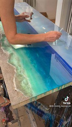 Resin Wall Art, Epoxy Resin Art, Diy Resin Art, Resin Artwork, Diy Resin Crafts, Diy Resin Projects, Acrylic Pouring Art, Resin Tutorial, Diy Canvas Art