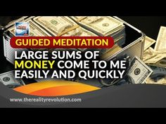 Guided Meditation Large Sums Of Money Come To Me Easily And Quickly Chakra Meditation, Meditation Music, Mindfulness Meditation, Guided Meditation, Beauty Spells, Magic Spells, Money Spells That Work, Neville Goddard, Wealth Affirmations