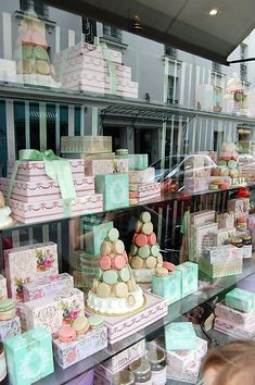 Paris Laduree - This is exactly what it looks like inside!!  We were there 2 weeks ago (July 15).  Lemon was our favorite!