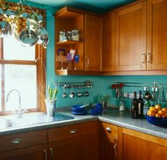 Kitchen Colors With Brown Cabinets all i would have to do to get this is paint my walls & ceiling