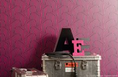 Auffällig gemusterte Tapeten nur für eine Wand im Zimmer #News #Wohnen