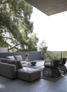 rattan lounge sofa überdachung roberti italien terrasse garten, Best garten ideen
