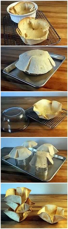 How to Make Tortilla Bowls & Cups