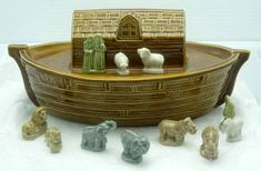 red rose tea wade figurines - noah's ark collection