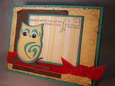 Gypsy Wanderings Owl Card for Brandi's birthday?