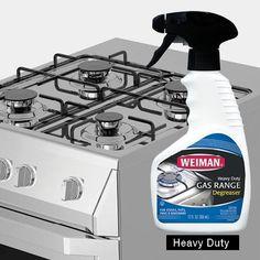 GAS RANGE CLEANER | Get Organized #Kitchen #KitchenCleaner