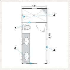 95 Best Small Bathroom Floor Plans images | Apartment ...