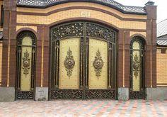 Художественная ковка в Чехове Home Gate Design, Iron Gate Design, Wall Design, House Design, Wooden Front Door Design, Wooden Front Doors, Front Gates, Entrance Gates, Outdoor Fencing