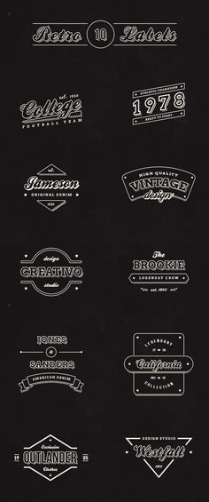 10 great #free vintage retro labels logos for designers http://webdesignledger.com/freebies/10-free-vintage-retro-labels #graphicdesign #webdesign