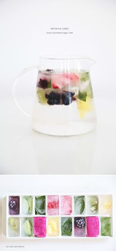 Detox Ice Cubes by Le Zoe Musings - Love this idea, pretty and effective!
