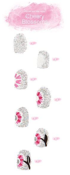 Polish off the look with Cheery Blossoms: Vera Bradley nail art tutorial
