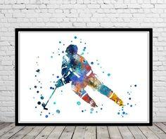 Hockey player, watercolor Hockey player, Hockey player poster, Hockey player art, sport, Hockey, sport poster, watercolor Hockey