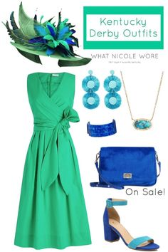 Kentucky derby dress - How to Dress Bright for 2019 Kentucky Derby & Easter – Kentucky derby dress Kentucky Derby Outfit, Derby Attire, Kentucky Derby Fashion, Derby Outfits, Rock Outfits, Emo Outfits, Stylish Outfits, Chapeaux Pour Kentucky Derby, Green Dress Outfit