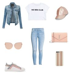 """Sin título #372"" by jocelin-cra on Polyvore featuring moda, H&M, LE3NO, Sophia Webster, Yves Saint Laurent, Michael Kors y Topshop"