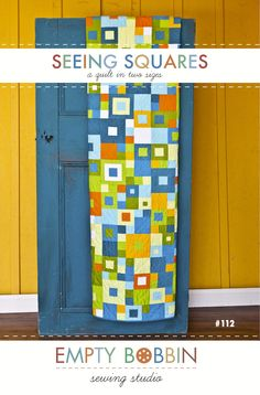 Interesting Pattern - modern quilt pattern, seeing squares quilt, quilt pattern, empty bobbin, quilt for boys