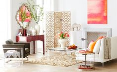 Room Divider  Make your room look larger by adding a room divider into the corner. It creates a backdrop to the room and tricks the eye into thinking there is more room behind.