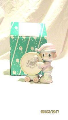 1986 Enesco Precious Moments Our Club Can't Be Beat Figurine Birthday Club #PreciousMoments