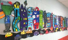 Group art projects, collaborative art projects, first grade art, grad. Group Art Projects, Collaborative Art Projects, First Grade Art, 5th Grade Art, Ecole Art, Art Lessons Elementary, Middle School Art, Art Lesson Plans, Art Classroom