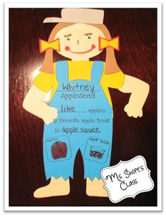 Turn your students into Johnny Appleseed. Put photo of face in place of drawing for a great keepsake. Teaching Themes, Social Studies Activities, Student Teaching, Kindergarten Classroom, Kindergarten Activities, Classroom Activities, Apple Activities, Holiday Activities, Classroom Crafts