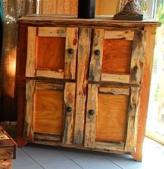 Cabinet made from pallet wood