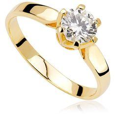 Pierścionek zaręczynowy z diamentem z żółtego złota P0213ZB Engagement Rings, Jewellery, Enagement Rings, Wedding Rings, Jewels, Schmuck, Diamond Engagement Rings, Jewelry Shop, Jewlery