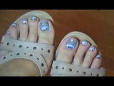 εїз  toenail ART TUTORIAL ♡ diseño de uñas para los pies εїз                                                                                                                                                     Más