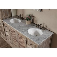 """InFurniture WK Series 61"""" Double Bathroom Vanity Set & Reviews 