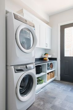 """Figure out more relevant information on """"laundry room storage diy cabinets"""". Look at our website. Washer Dryer Laundry Room, Room Storage Diy, Laundry Dryer, Room Tiles, Stacked Laundry Room, Farmhouse Laundry Room, Room Makeover"""