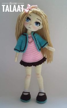 150 Best Cute Crocheted Amigurumi Patterns Ideas Pictures - Page 41 of post was discovered by kesmat maher. amigurumi for beginners; Yarn Dolls, Knitted Dolls, Crochet Dolls, Amigurumi Patterns, Amigurumi Doll, Doll Patterns, Cute Crochet, Crochet Baby, Crochet Doll Pattern