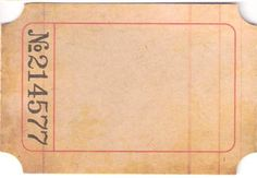 Vintage Ticket  - free to use in artwork