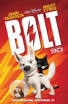 From walt disney animation studios comes bolt, the tale. Disney's bolt coming to blu-ray and disney dvd on march Walt Disney Animation, Disney Pixar, Disney Films, Disney Cinema, Walt Disney Animated Movies, Disney Animation Studios, Animated Movie Posters, Disney Movie Posters, New Animation Movies