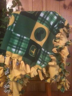 Hand Tied Fleece Kids Size John Deere Blanket/Throw by AbbieJude, $32.00