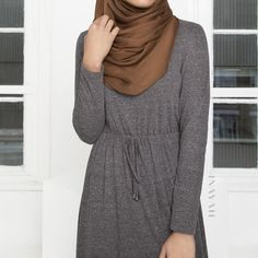 #Modest casual wear in our Grey Cotten Blend #Maxi #Dress also available in a range of colours. Shop now at www.inayah.co