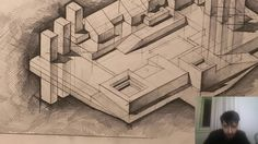 How To Draw Isometric Axonometric Cast Shadows (Theory And Graphics) Architecture Collage, School Architecture, Shadow Theory, Minimalist Window, Architectural Section, Shadows, It Cast, Floor Plans, House Design