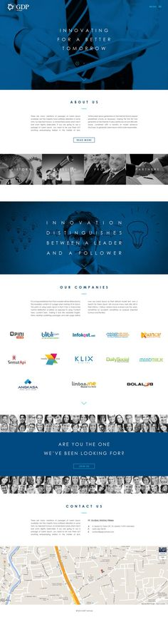 nice corporate website with a story to tell  GDP Venture (concept) by Dennie Soetopo, via Behance