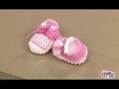 Vida com Arte | Sapatinho em tricô para menina por Jaqueline Santos - 04 de Julho de 2015 - YouTube