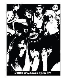 Pumps PinUps musical cabaret show advertisement flyer