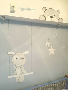 Baby Boy Rooms, Baby Room, Baby Canvas, Baby Painting, Cute Illustration, Applique, Nursery, Clip Art, Wall Art
