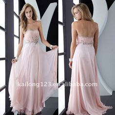 Aliexpress.com : Buy Nice Strapless Beaded Appliqued Draped Pink Chiffon Satin Prom Dress from Reliable prom dress suppliers on Suzhou Yi Jiao Sha Bai Wedding Dress Co., Ltd.