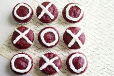 Skinny Mini Red Velvet Cupcakes via @Skinny Mom - Healthy Living for Women
