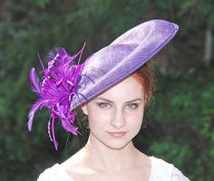 Purple Fascinator Hat  Purple Kentucky Derby by MadameMerrywidow