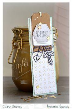 Inspiration Création Blog: Interprétation défi juillet par Caro Scrap Green Color Schemes, Green Colors, Broken Book, Pocket Letters, Bookmarks, Diy Gifts, Cardmaking, Whimsical, Lettering