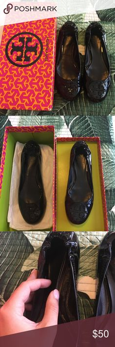 Authentic Tory Burch Patent Reva Ballet Flats