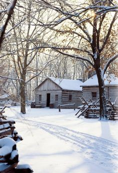 New Salem Illinois in the snow