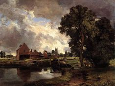 Dedham Lock And Mill John Constable Famous Painter Classic Painting Print A4