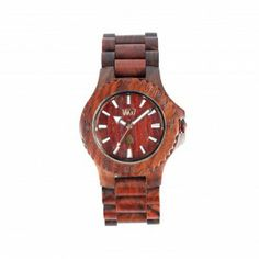Watch made of wood.